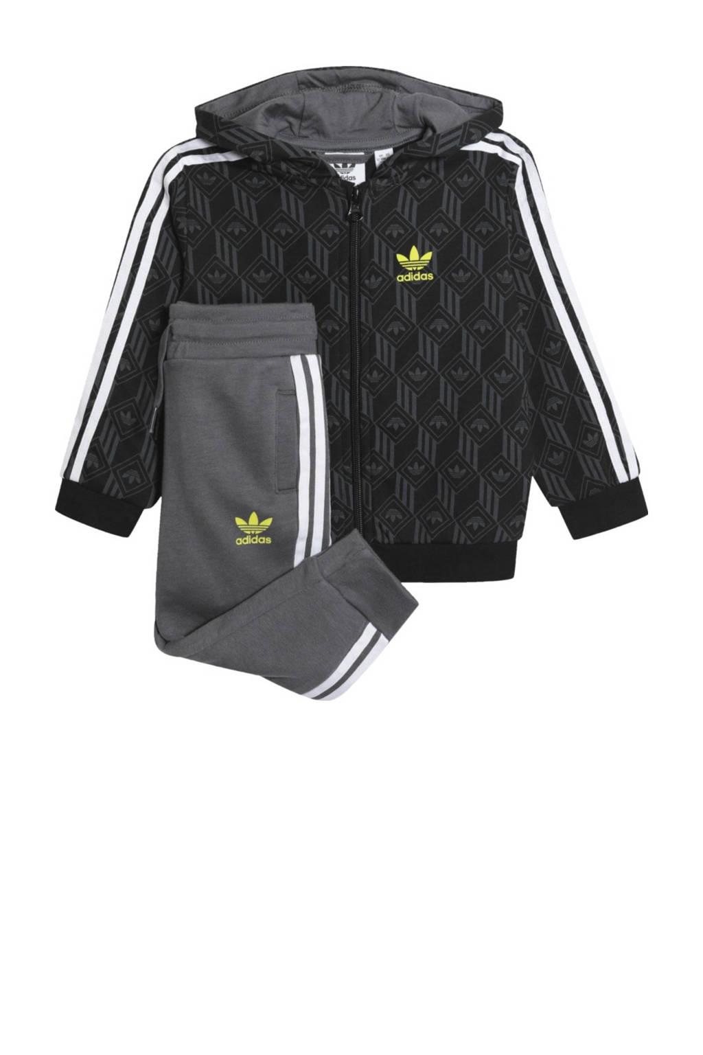 adidas Originals   trainingspak zwart/grijs, Zwart/grijs