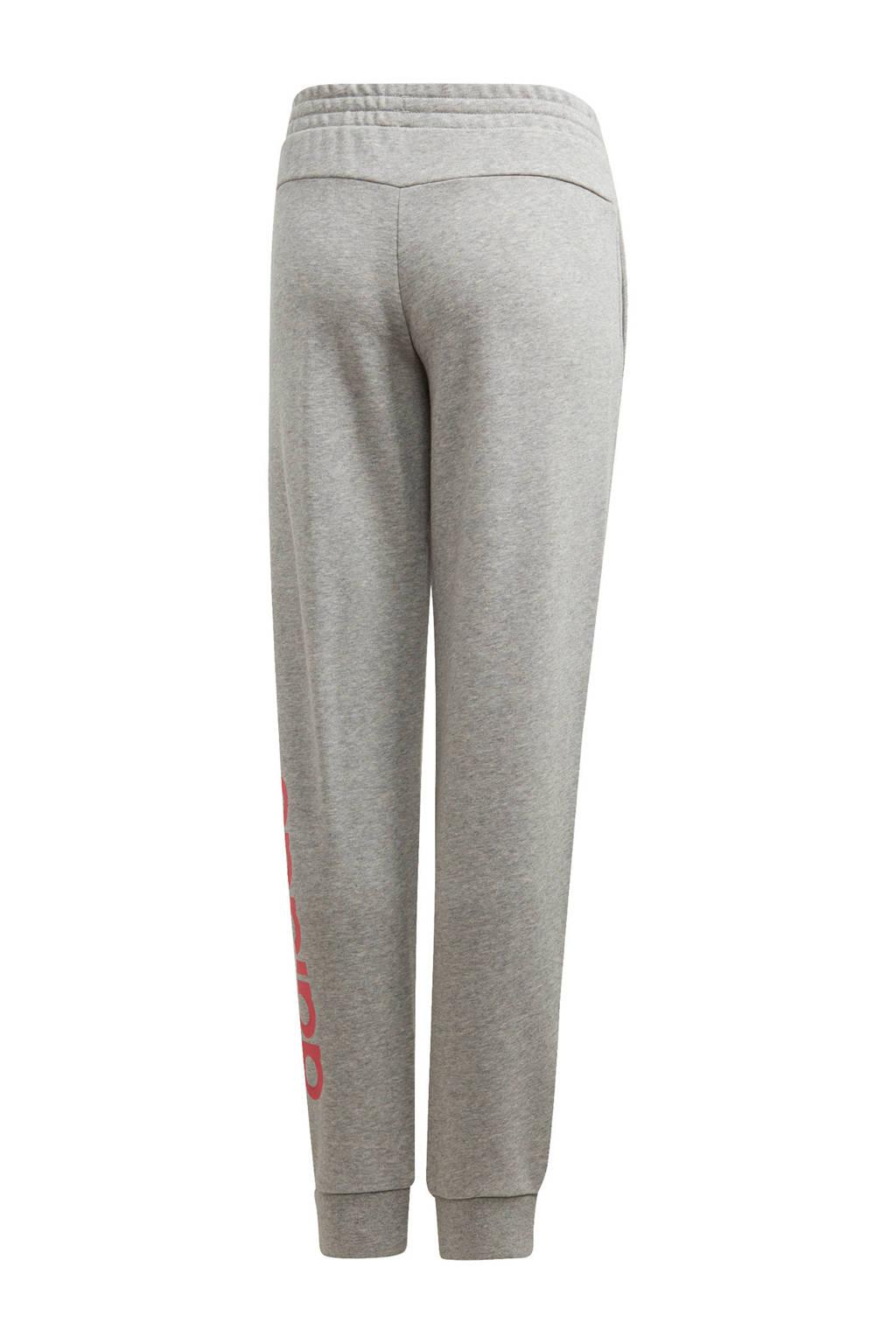 adidas Performance sportbroek grijs melange/roze, Grijs/roze