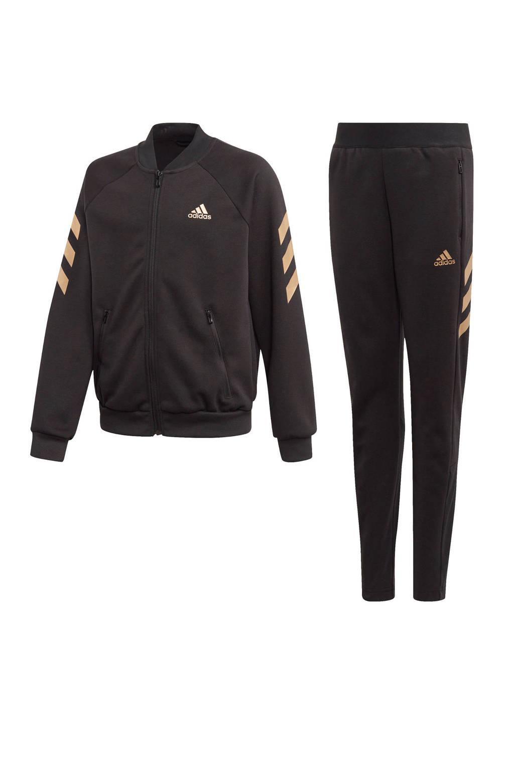 adidas Performance trainingspak zwart/goud, Zwart/goud