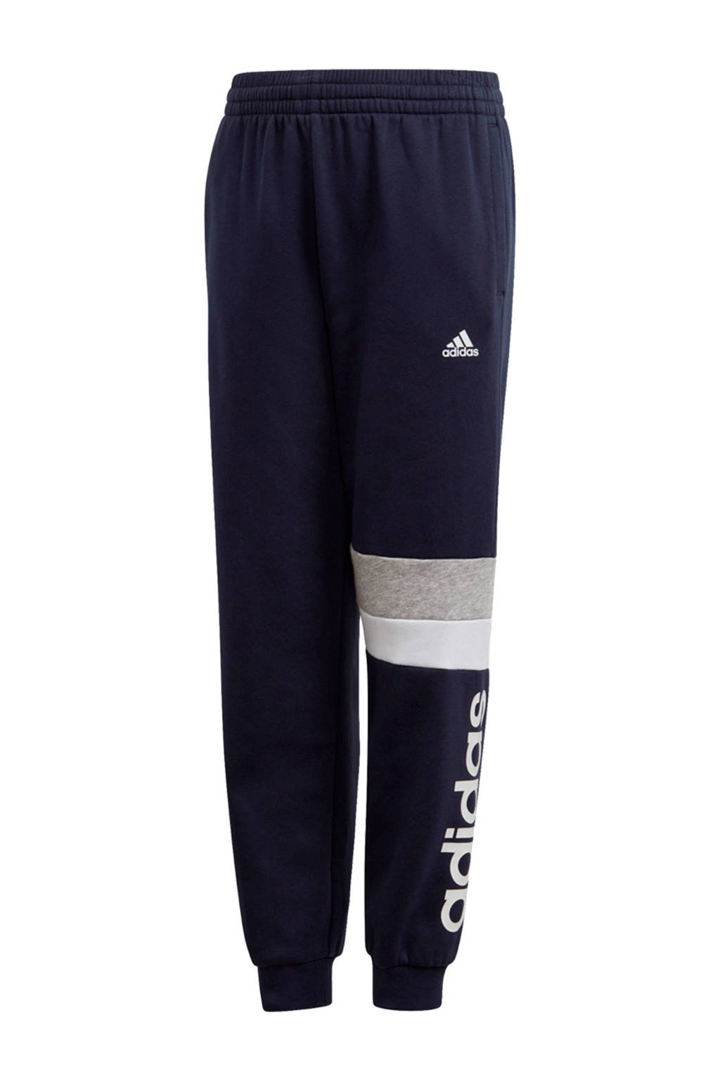 adidas Performance   sportbroek donkerblauw/wit, Donkerblauw/wit