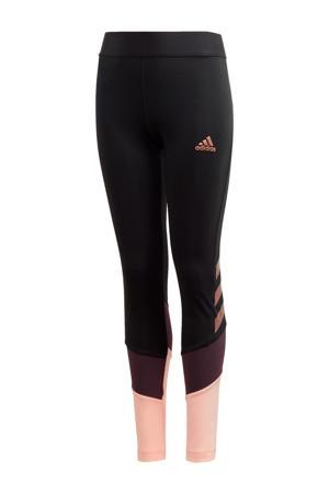 sportbroek zwart/paars/roze
