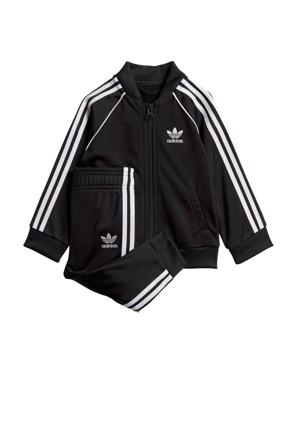 adidas Originals   trainingspak zwart/wit, Zwart/wit