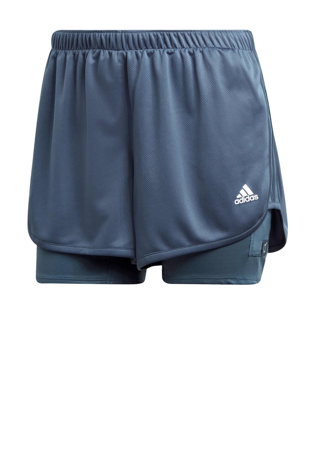 adidas Performance hardloopshort blauw, Blauw