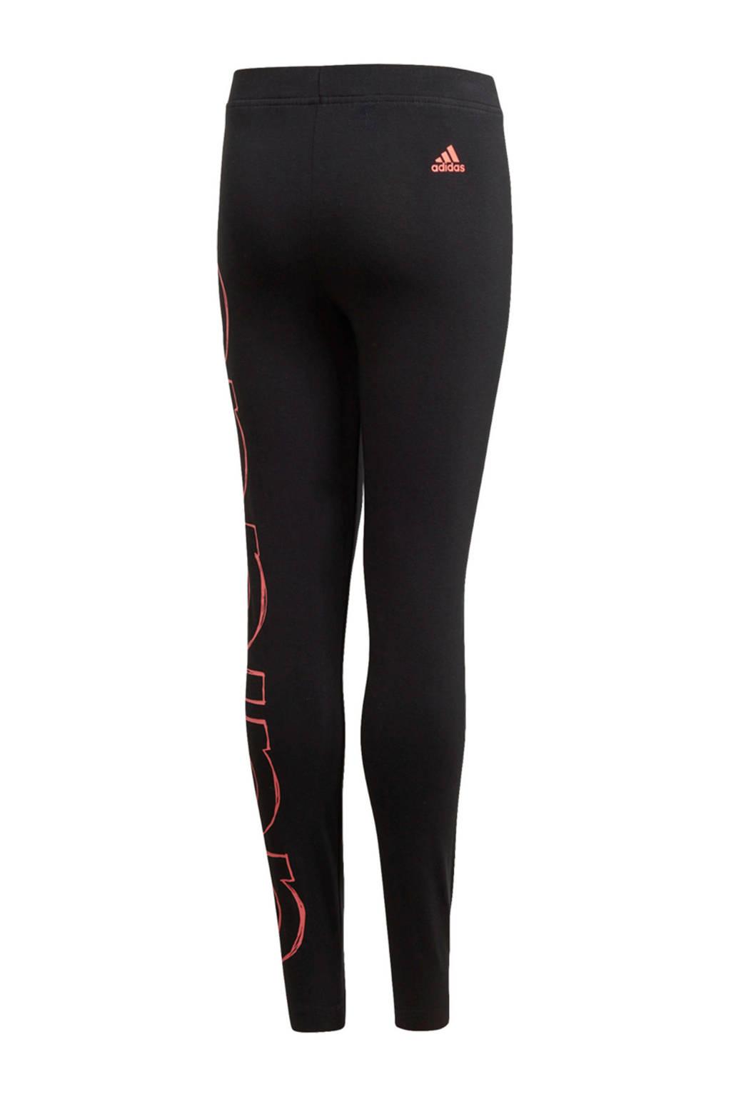adidas Performance sportbroek zwart/roze, Zwart