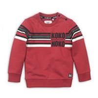 Koko Noko sweater met printopdruk rood/wit/zwart, Rood/wit/zwart