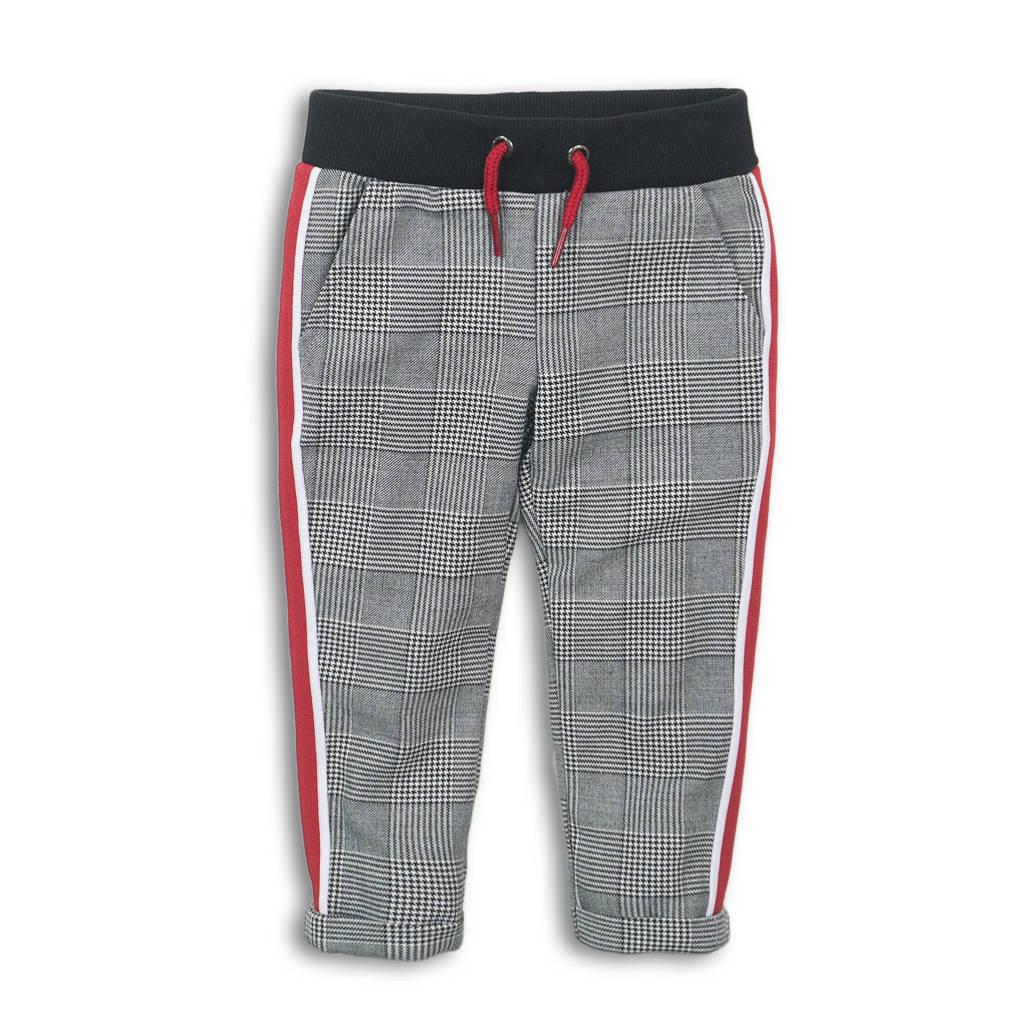 Koko Noko geruite broek zwart/wit/rood, Zwart/wit/rood