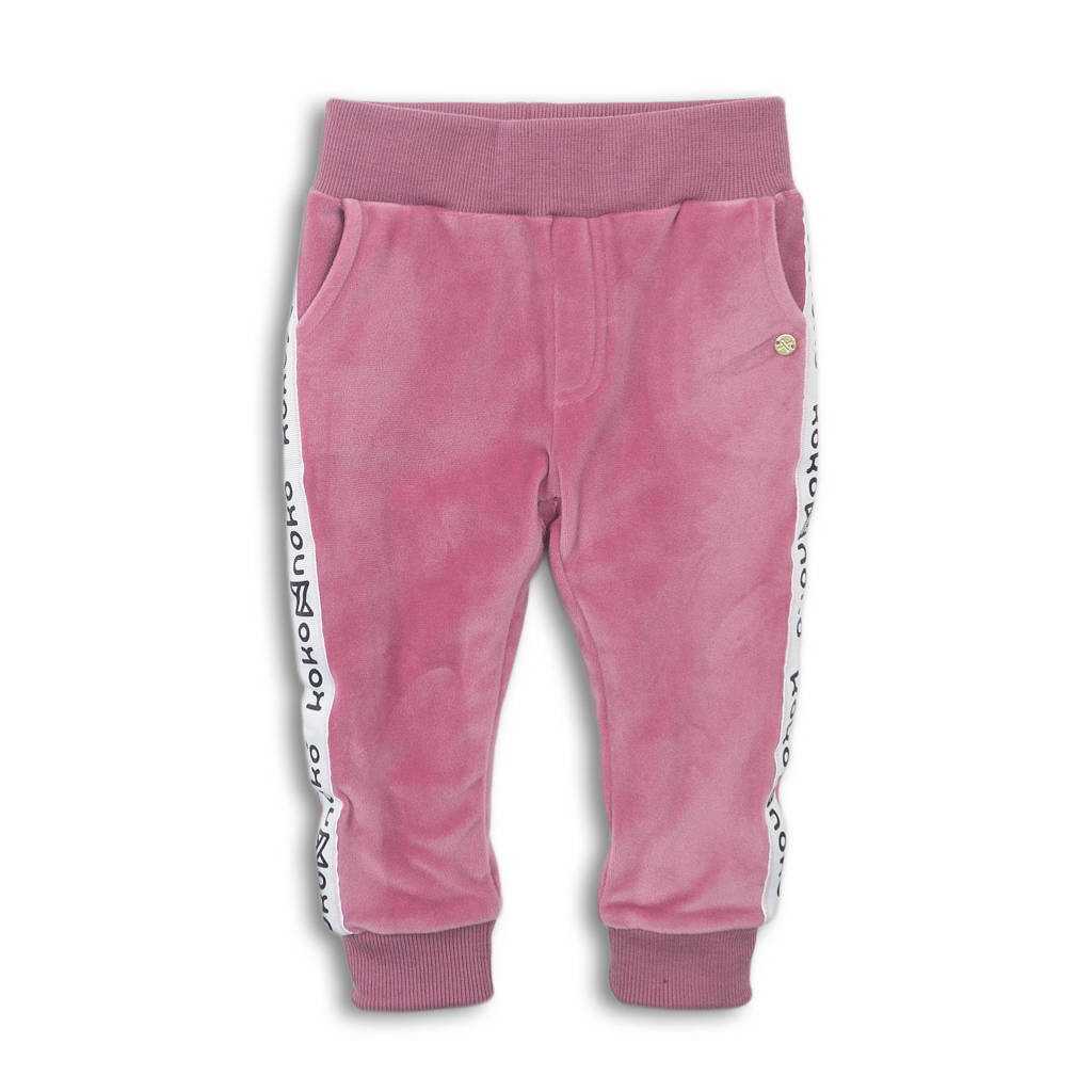 Koko Noko broek roze/wit/zwart, Roze/wit/zwart