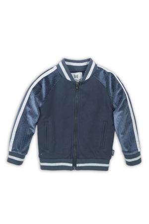 baby vest blauw/grijs