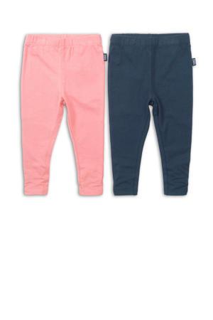 legging - set van 2 roze/blauw