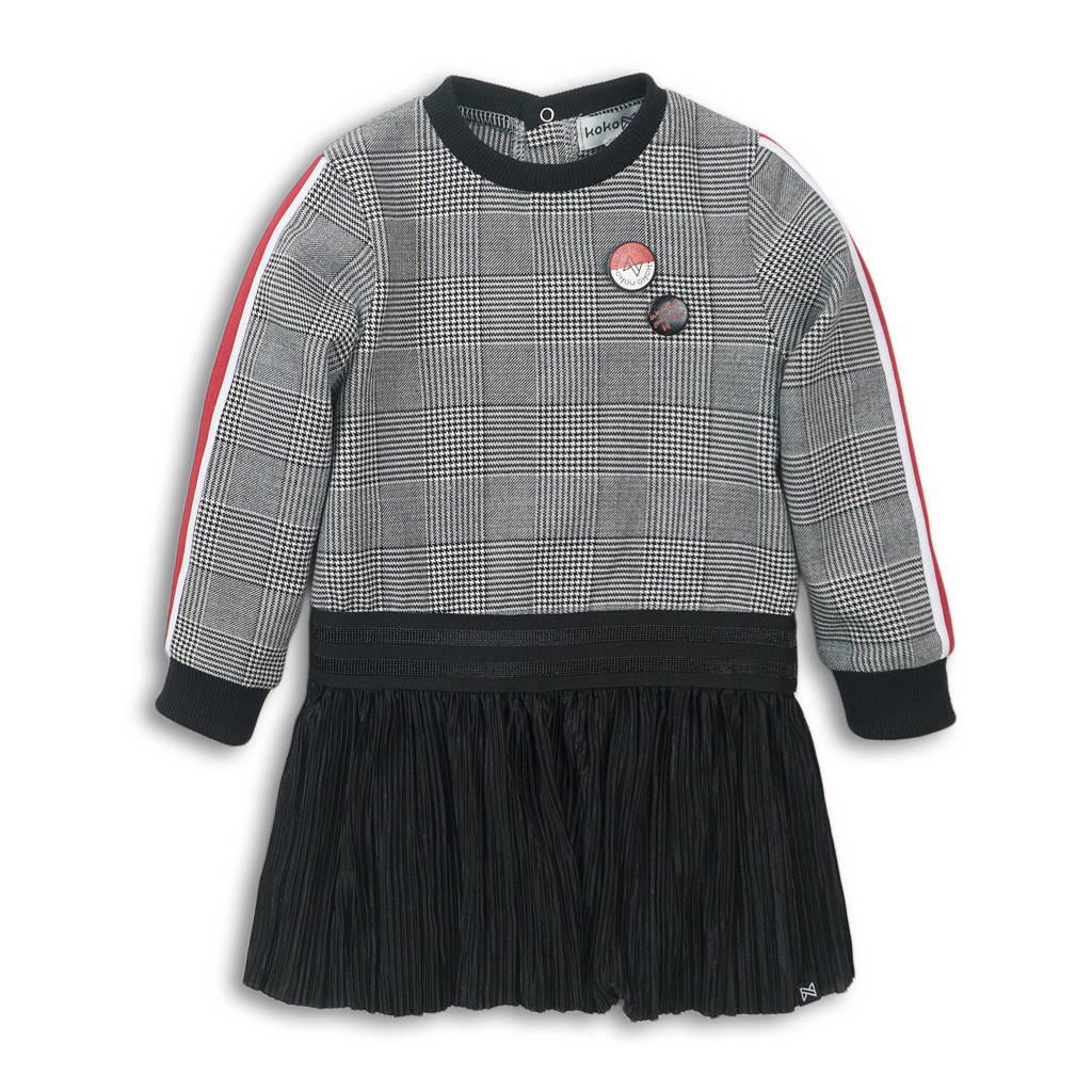 Koko Noko jurk zwart/wit/rood, Zwart/wit/rood