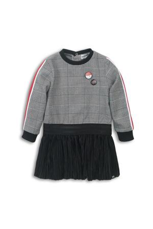 jurk zwart/wit/rood