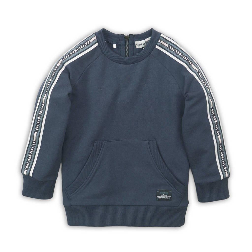 Koko Noko sweater donkerblauw/wit, Donkerblauw/wit
