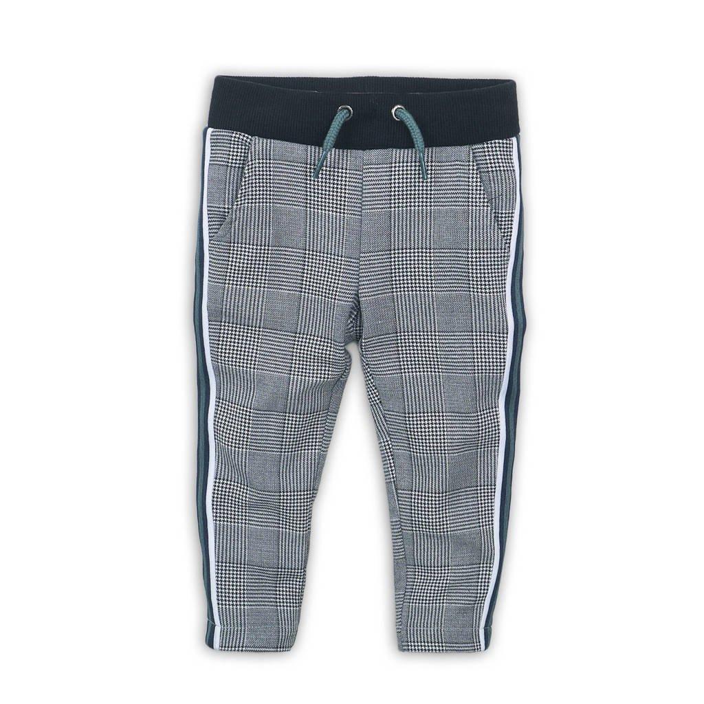 Koko Noko geruite broek met zijstreep zwart/wit/groen, Zwart/wit/groen