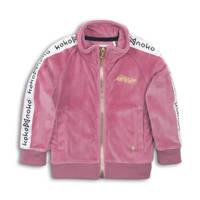 Koko Noko vest roze/wit/zwart, Roze/wit/zwart
