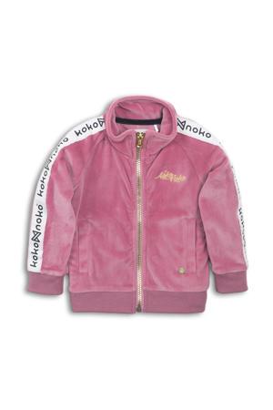 vest roze/wit/zwart