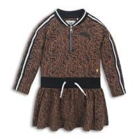 Koko Noko sweatjurk met all over print bruin/zwart/wit