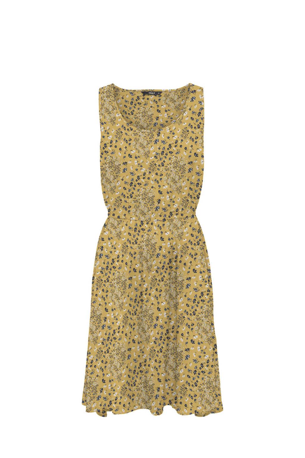 ONLY jurk met all over print geel, Geel