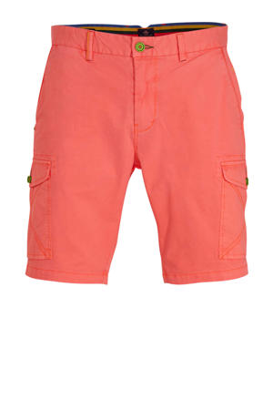 regular fit cargo bermuda roze