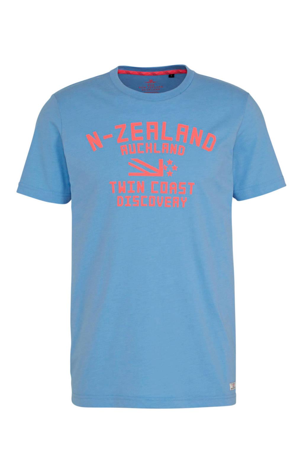 New Zealand Auckland T-shirt met tekst lichtblauw, Lichtblauw