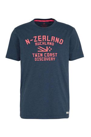 T-shirt met tekst marine