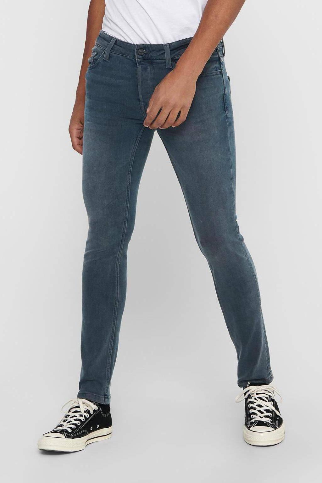ONLY & SONS slim fit jeans Loom grijsblauw, Grijsblauw