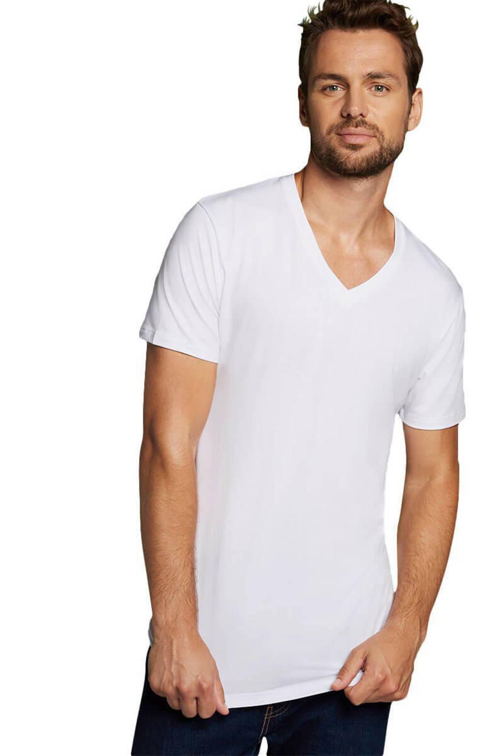 Bamboo Basics T-shirt Vinn met bamboe (set van 2) wit, Wit