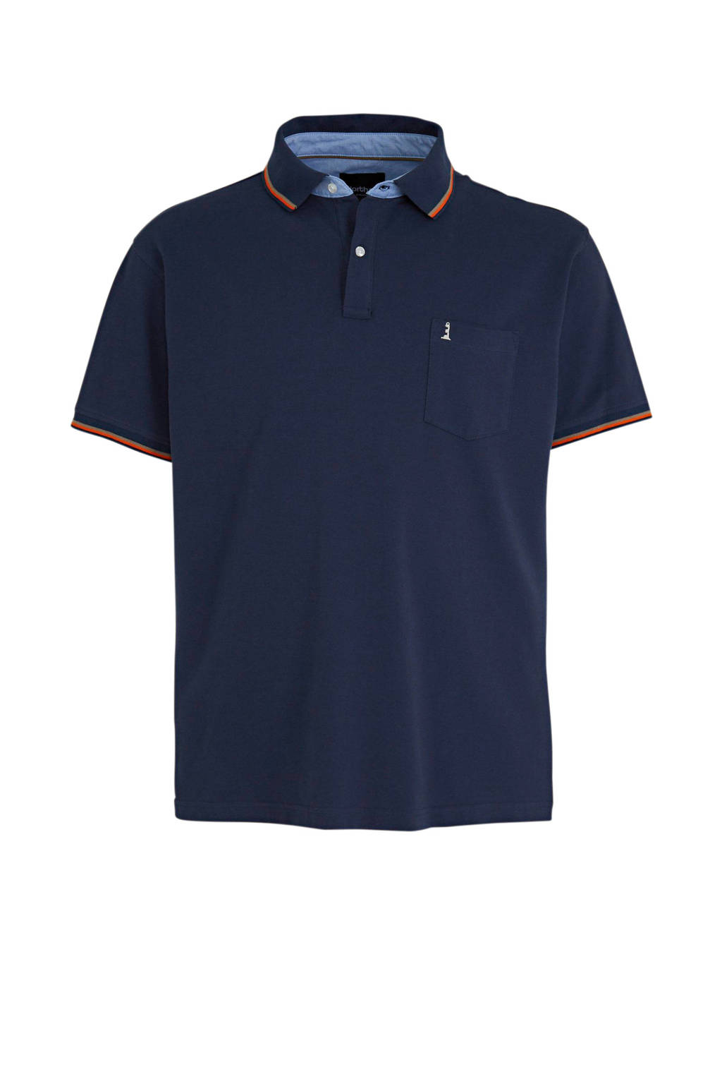 North 56°4 +size regular fit polo donkerblauw, Donkerblauw