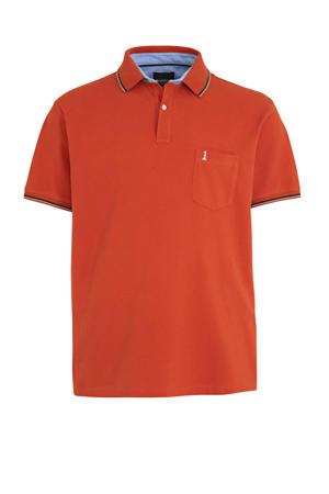 +size regular fit polo oranje