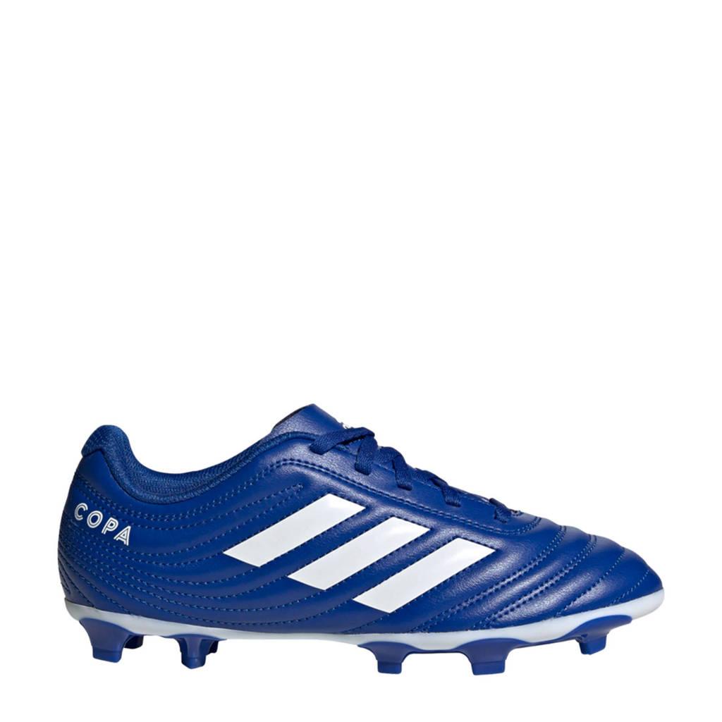 adidas Performance Copa 20.4 Firm FG Jr. voetbalschoenen kobaltblauw/wit, Kobaltblauw/wit