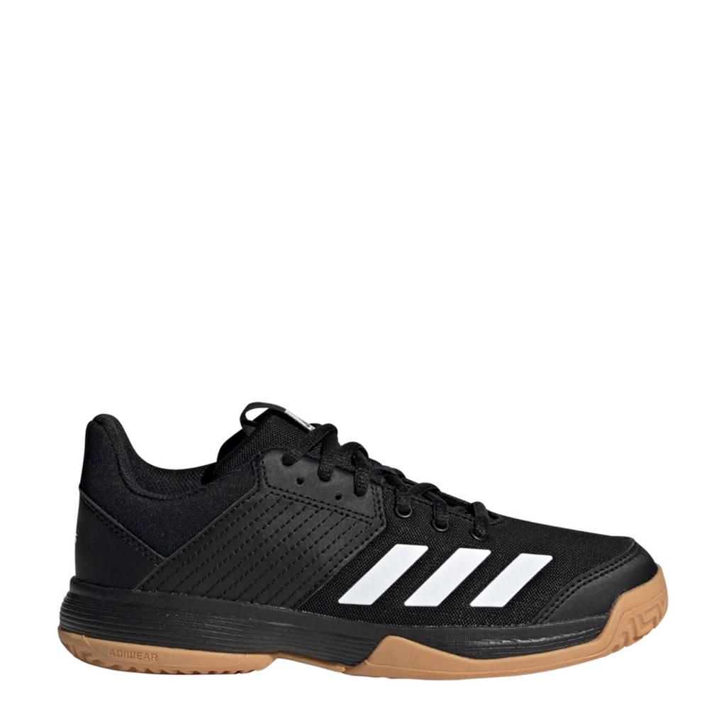 adidas Performance Ligra Youth 6 zaalsportschoenen zwart/wit kids, Zwart/wit