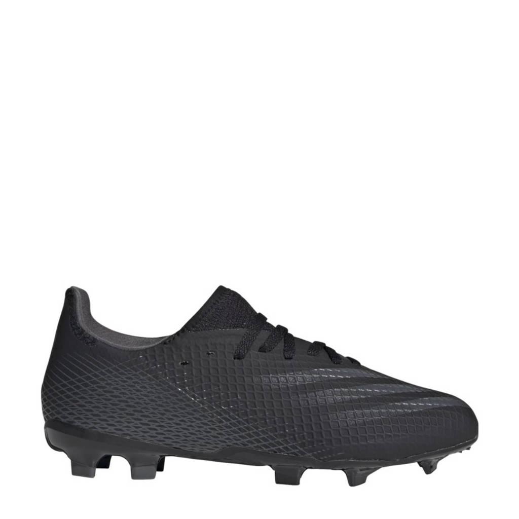 adidas Performance X Ghosted.3 .3 FG Jr. voetbalschoenen zwart/grijs, Zwart/grijs
