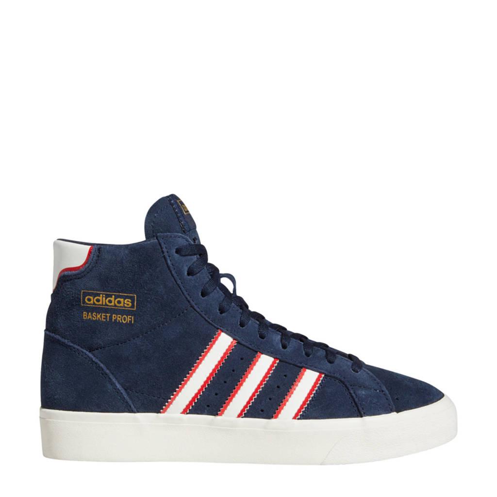 adidas Originals Basket Profi J suede sneakers zwart/wit/rood, Zwart/wit/rood