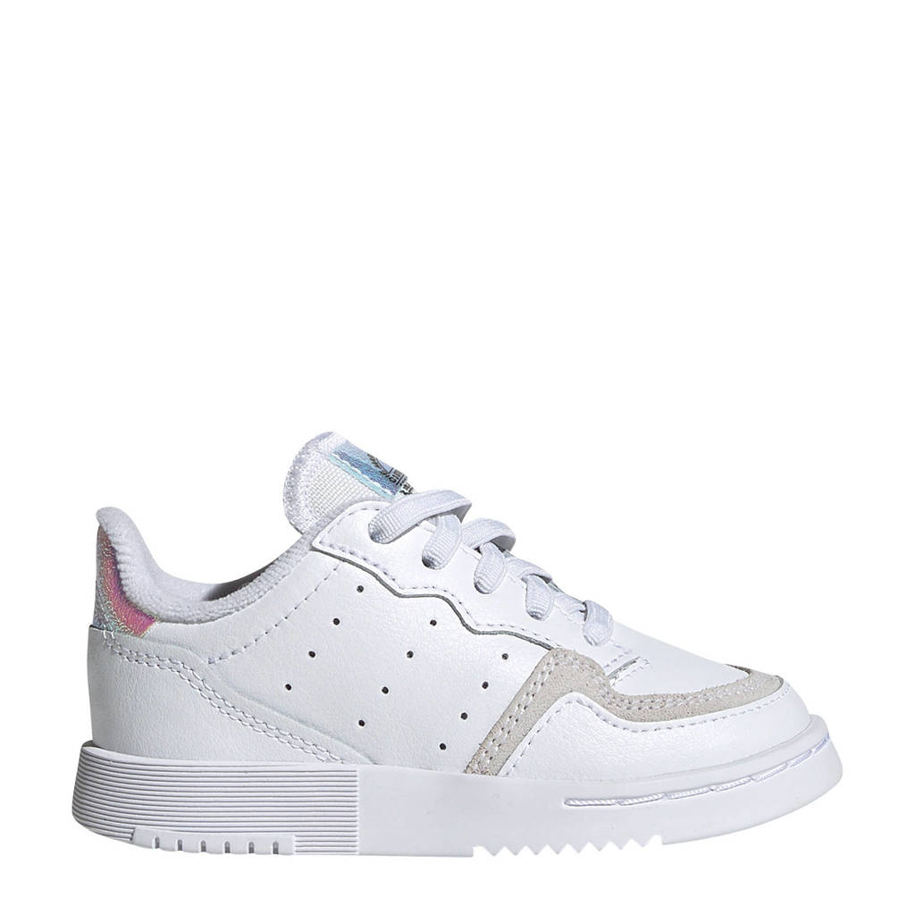 adidas Originals Supercourt  leren sneakers wit/zilver, Wit/zilver