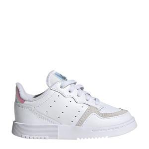 Supercourt  leren sneakers wit/zilver