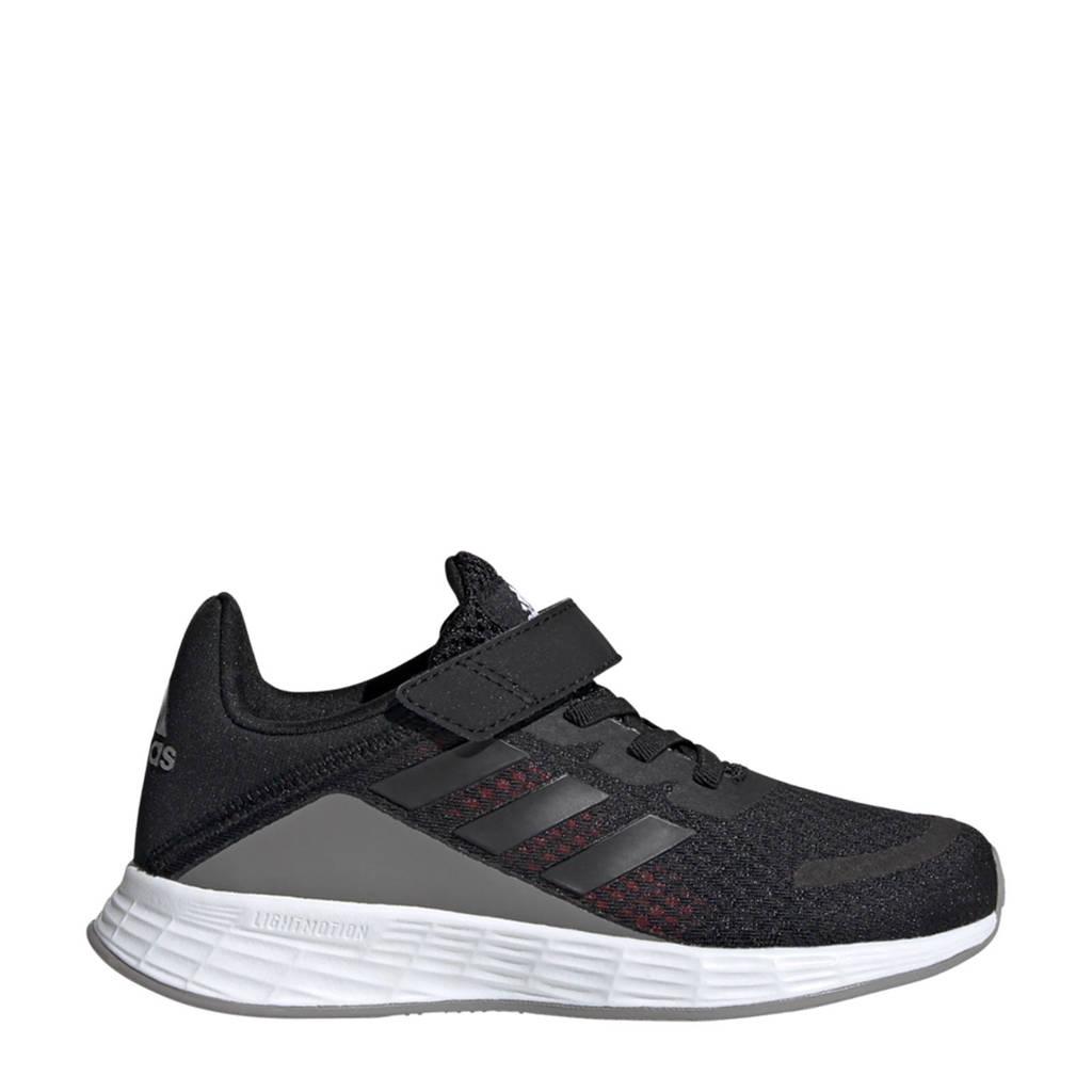 adidas Performance Duramo SL  hardloopschoenen zwart/blauw/grijs kids, Zwart/blauw/grijs