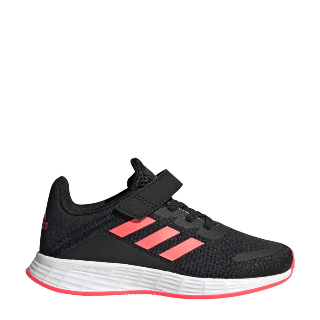 adidas Performance Duramo SL  hardloopschoenen zwart/roze/blauw kids, Zwart/roze/blauw