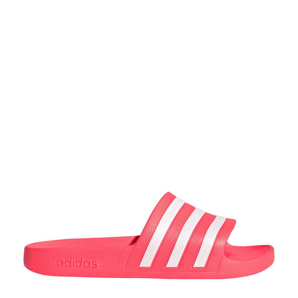 adidas Performance Adilette Aqua  badslippers roze/wit, Roze/wit, Unisex