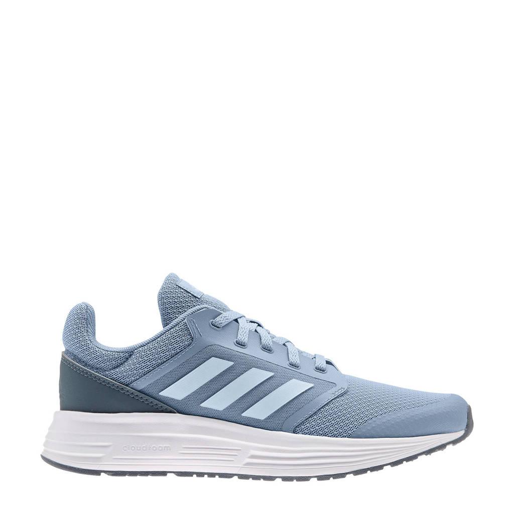 adidas Performance Galaxy 5 hardloopschoenen grijsblauw/blauw/wit