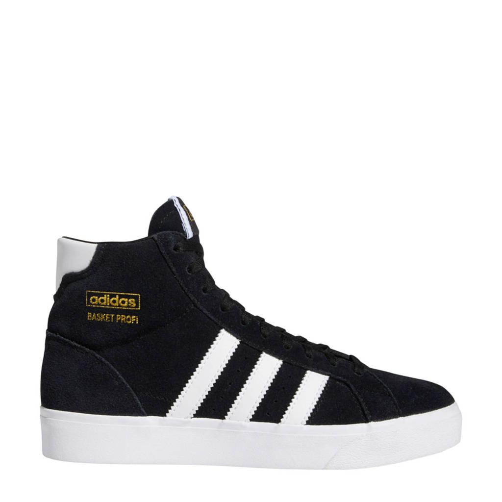 adidas Originals Basket Profi J suede sneakers zwart/wit, Zwart/wit