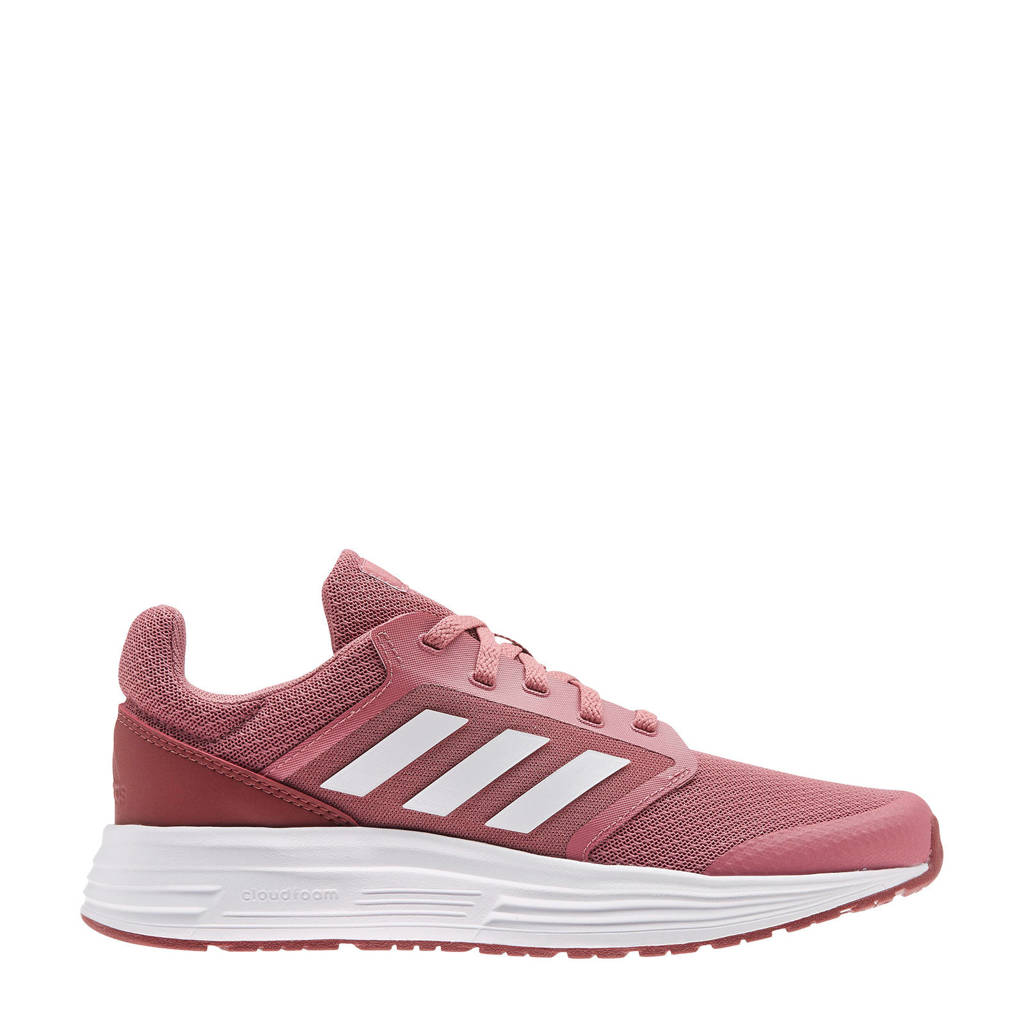 adidas Performance Galaxy 5 hardloopschoenen oudroze/rood/wit