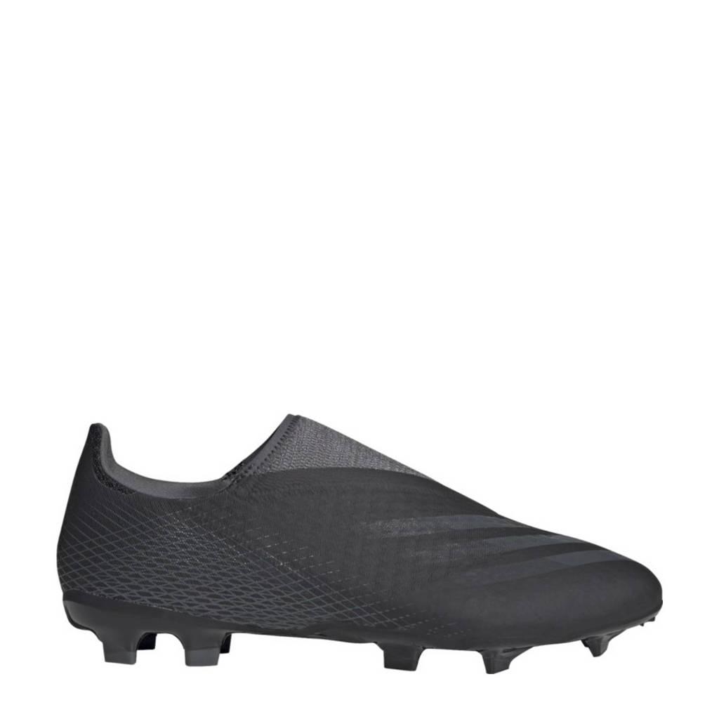 adidas Performance X Ghosted.3 LL FG Sr. voetbalschoenen zwart/grijs, Zwart/grijs