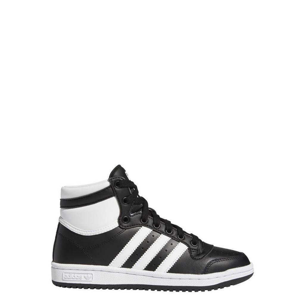 adidas Originals Ten Mid J sneakers zwart/wit, Zwart/wit