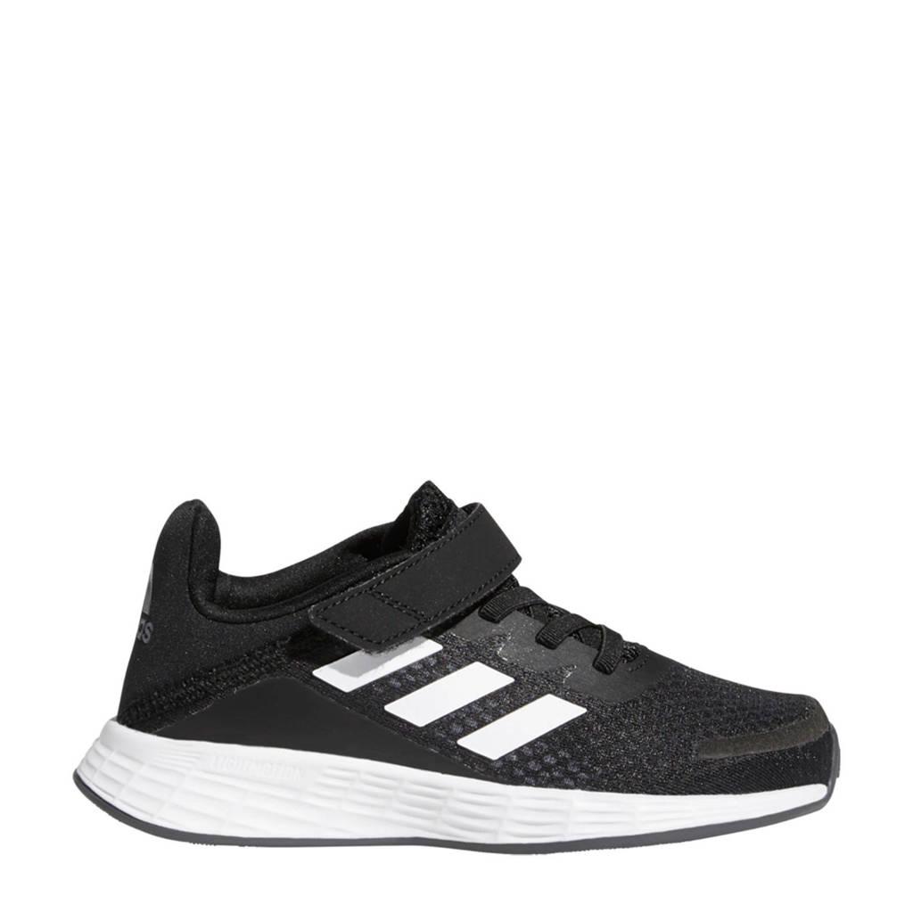 adidas Performance Duramo SL  hardloopschoenen zwart/wit/grijs kids, Zwart/wit/grijs