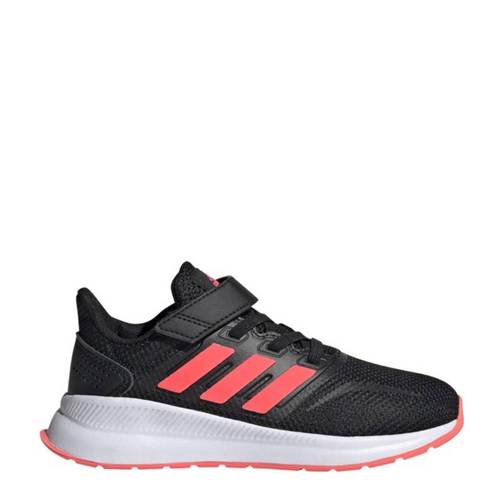 adidas Performance Runfalcon C hardloopschoenen zwart/roze/wit kids, Zwart/roze/wit