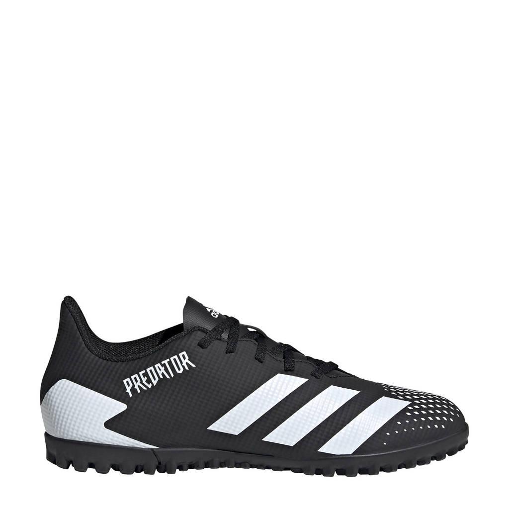 adidas Performance Predator 20.4 TF Sr. voetbalschoenen zwart/wit, Zwart/wit