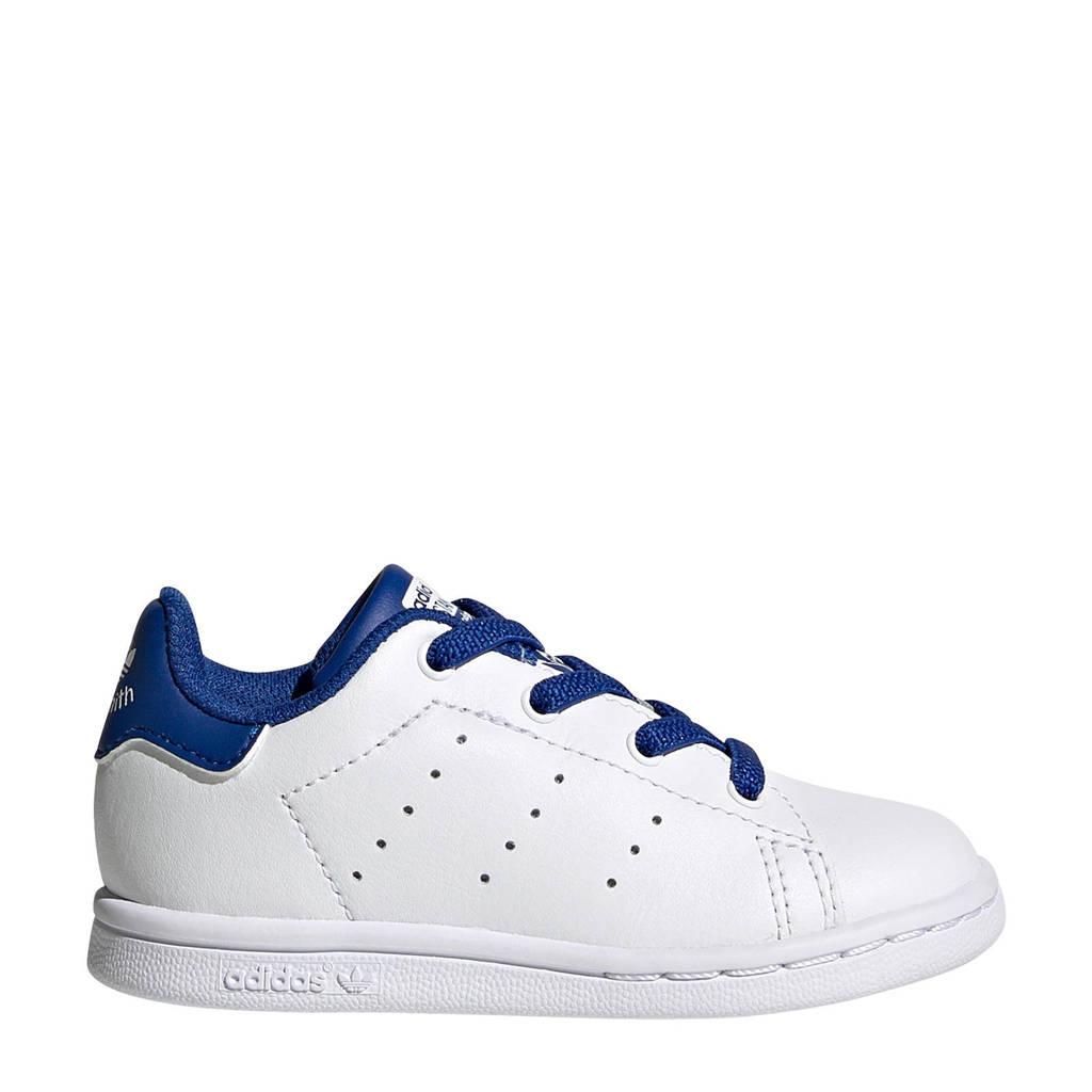 adidas Originals STAN SMITH EL I leren sneakers wit/blauw, Wit/blauw