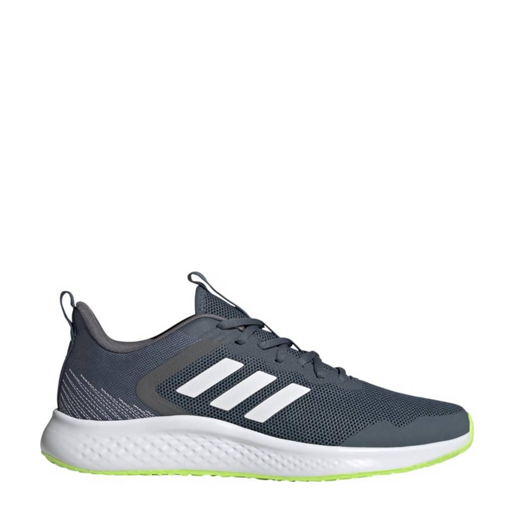 adidas Performance Fluidstreet  hardloopschoenen grijsblauw/wit, Grijsblauw/wit