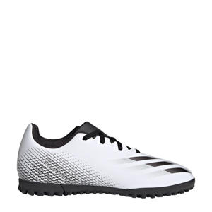 X Ghosted.4 TF Jr. voetbalschoenen wit/zwart/zilver