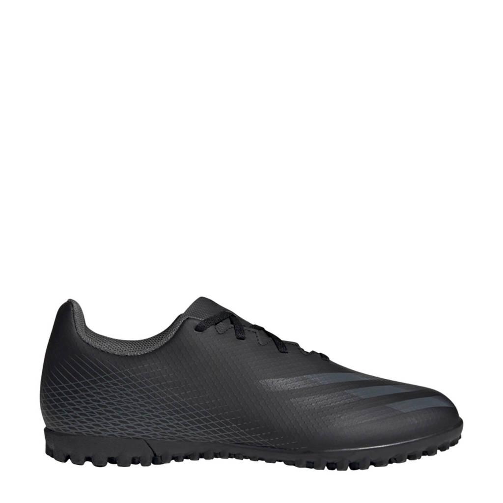 adidas Performance X Ghosted.4 TF Sr. voetbalschoenen zwart/grijs, Zwart/grijs