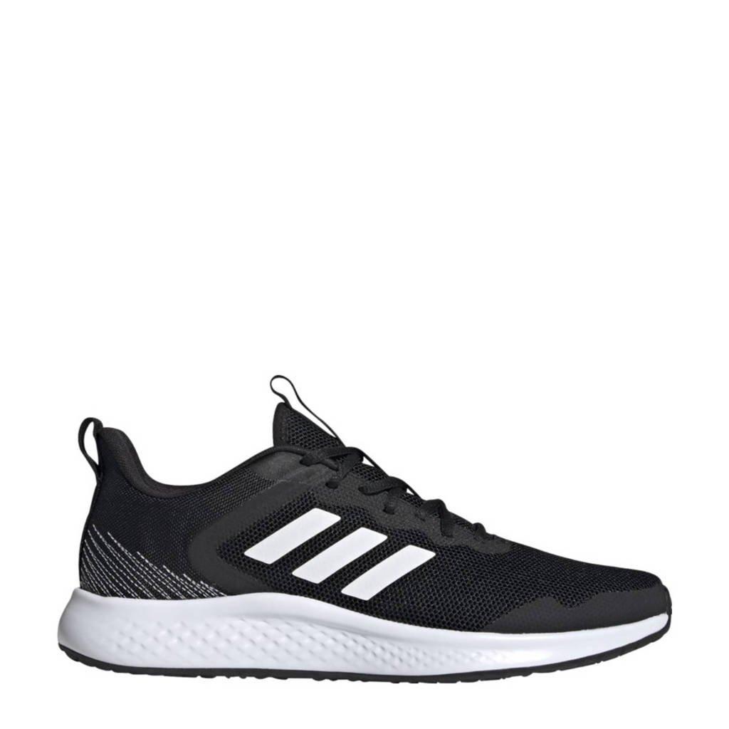 adidas Performance Fluidstreet  hardloopschoenen zwart/wit, Zwart/wit